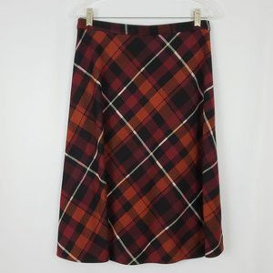 Christopher & Banks Plaid Skirt Size S